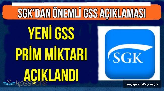 SGK'dan Yeni Açıklama: İşte Yeni GSS Prim Miktarı