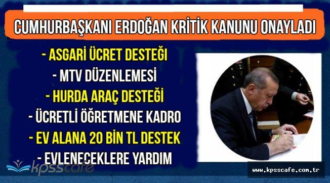 Kritik Kanun Onaylandı: Ev Alana 20 Bin TL, KPSS'siz Personel Alımı, Evlenene Para, Asgari Ücret,..