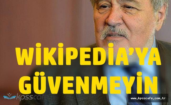 İlber Ortaylı'dan Wikipedia Çıkışı 'Hiç Güvenmeyin'