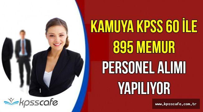 60 KPSS ile 895 Memur Personel Alımı 2018