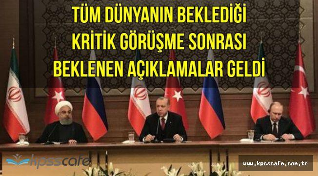 Kritik Görüşme Sona Erdi: Erdoğan, Putin ve Ruhani'den Kritik Açıklamalar