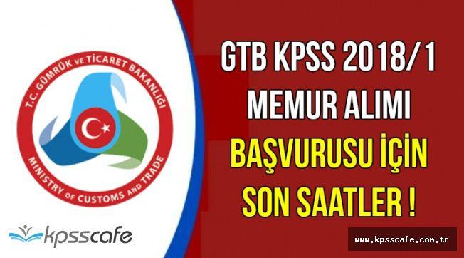 GTB KPSS 2018/1 Kadrolu Memur Alımı Başvuru Son Günü: 6 Nisan 2018