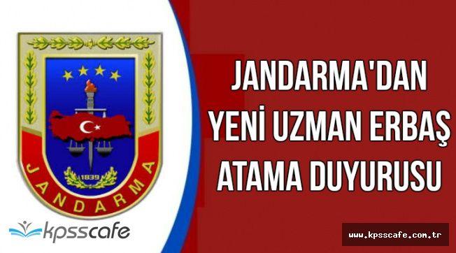Jandarma'dan Yeni Uzman Erbaş Atama Duyurusu