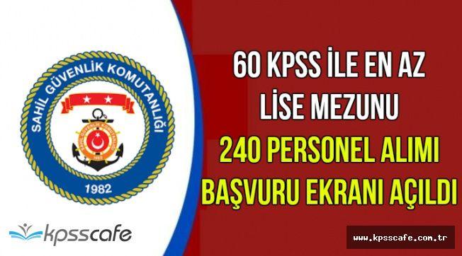 Başvuru Ekranı Açıldı: 60 KPSS ile En Az Lise Mezunu 240 Kamu Personeli Alımı