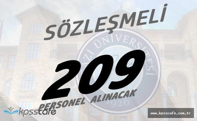 Gazi Üniversitesine Sözleşmeli 209 Personel Alınıyor! Başvuru Şartları, Tarihleri ve Detaylar