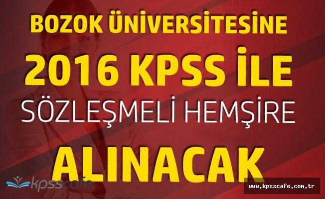 Bozok Üniversitesi Sözleşmeli Hemşire Alımı Yapacak (Son Başvuru Tarihi 20 Nisan)