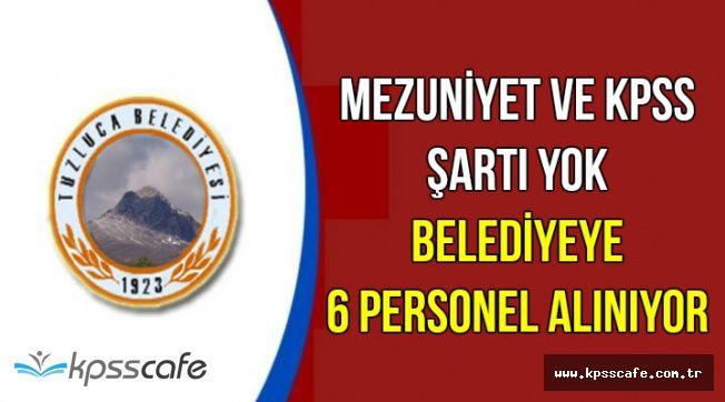 DPB'de Yayımlandı: Mezuniyet Şartı Olmadan 6 Belediye Personeli Alımı