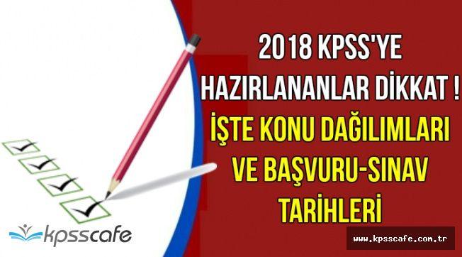 2018 KPSS Sınav Konuları (KPSS Başvuru, Sınav ve Memur Alımı Tarihleri)