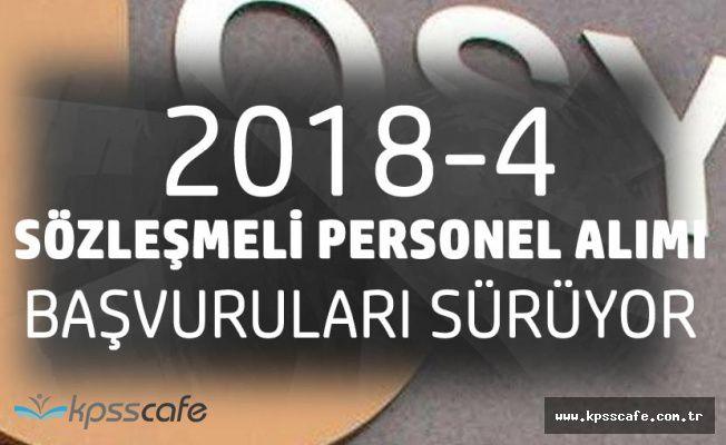 ÖSYM 2018-4 Sözleşmeli Personel Alımı için Başvurular Sürüyor