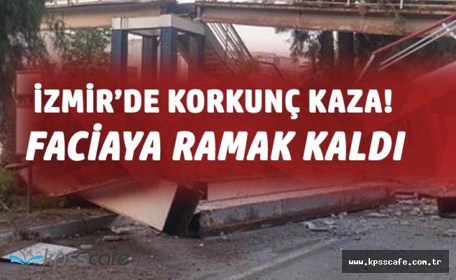 İzmir Bornova'da Korkunç Kaza! Faciaya Ramak Kalmıştı