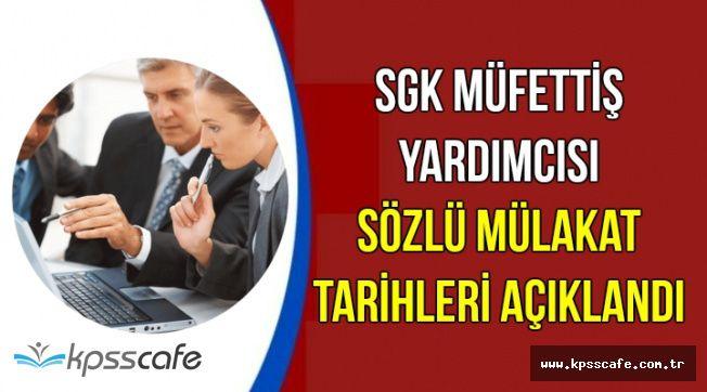 SGK Müfettiş Yardımcısı Alımı Yazılı Sınav Sonuçları Açıklandı (İsim Listesi)