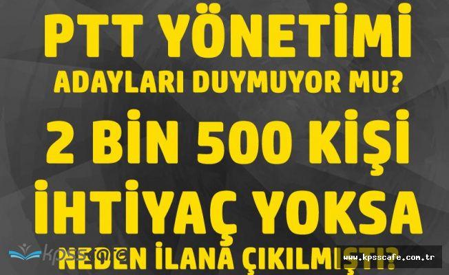 Adaylar KPSS Şartsız PTT Personel Alım İlanı Seçimden Önce Yayınlansın İstiyor!