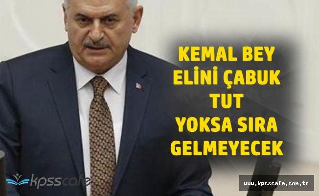 Başbakan'dan CHP Liderine 'Elini Çabuk Tut Yoksa Sıra Kalmayacak'