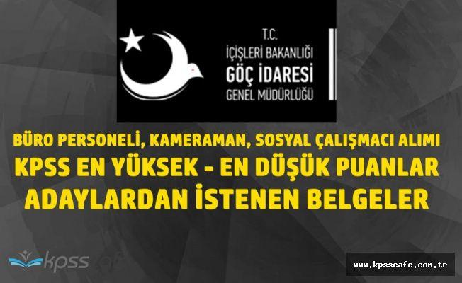 Göç İdaresi Genel Müdürlüğü Büro Personeli Alımı KPSS Tavan - Taban Puanları ( Sözlü Sınava Girecekler Dikkat )