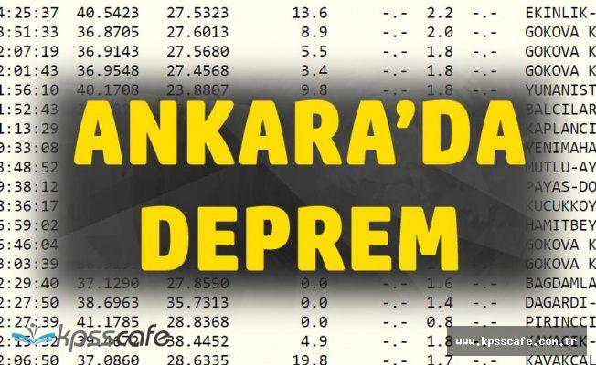 Ankara Yenimahalle'de Deprem