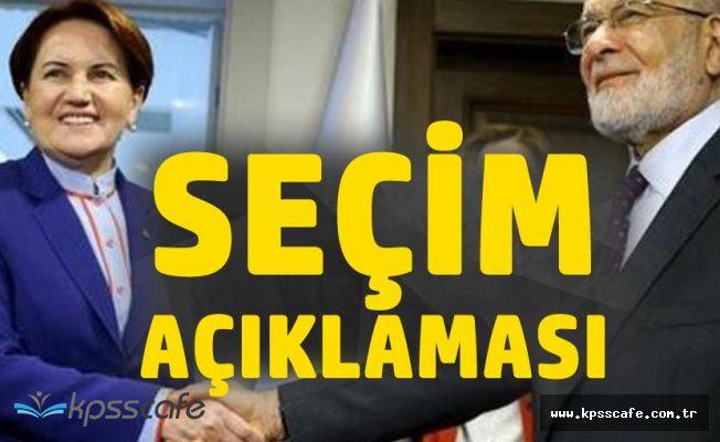 Akşener ve Karamollaoğlu'ndan Seçim Açıklaması Geldi