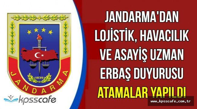 Jandarma'dan Asayiş, Lojistik ve Havacılık Branşı Uzman Erbaş Duyurusu-Atamalar Yapıldı