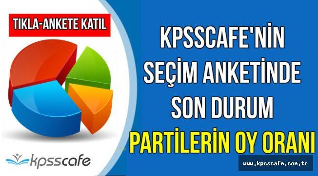 KPSSCAFE'nin Seçim Anketinde İkinci Sonuçlar Açıklandı-İşte Partilerin Oy Oranı