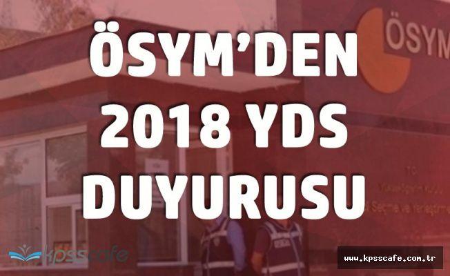 2018 YDS İlkbahar Dönemi Adayların Soru Kitapçıkları ve Cevapları Erişime Açıldı