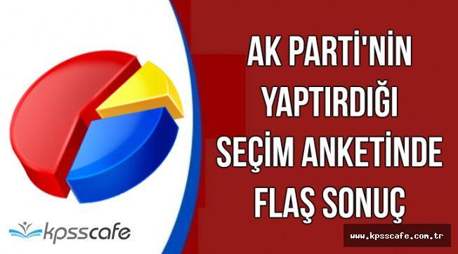 AK Parti'nin Yaptırdığı Seçim Anketinde Flaş Sonuç