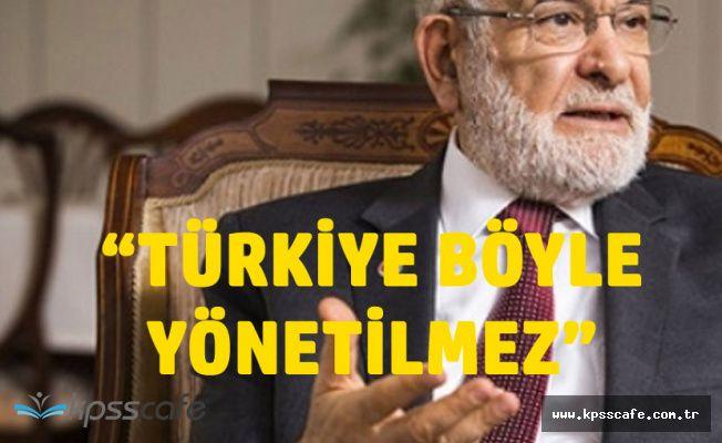 Cumhurbaşkanı Adayı Karamollaoğlu: Türkiye Böyle Yönetilmez
