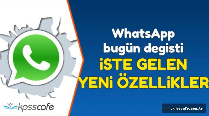 WhatsApp Bugün Güncellendi-İşte Gelen Yeni Özellikler