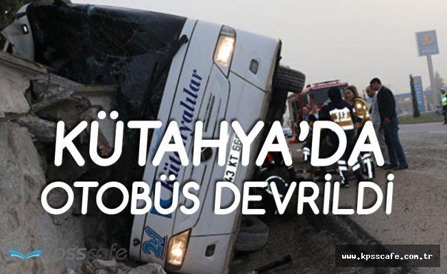 Kütahya'da Otobüs Devrildi! 1 Ölü, 16 Yaralı