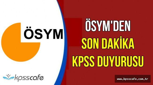 ÖSYM'den 2018 KPSS Başvuru Duyurusu