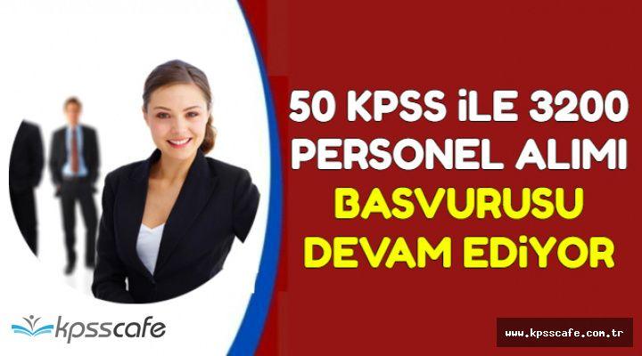 En Az 50 KPSS ile Kadın-Erkek Kamu Personel Alımı