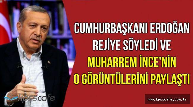 Erdoğan Canlı Yayında Muharrem İnce'nin O Videosunu Paylaştı