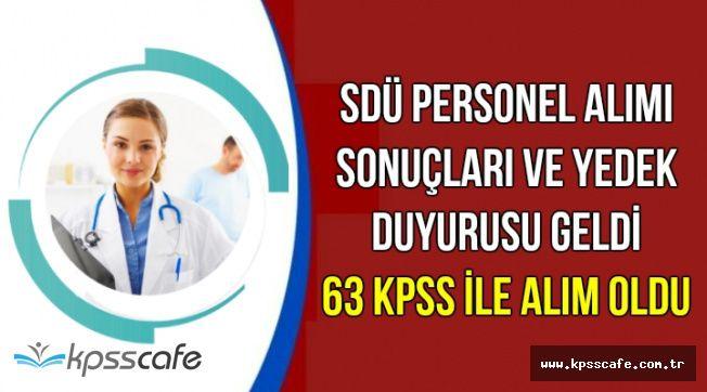 SDÜ Personel Alımı Sonuçları Açıklandı: 63 KPSS ile Atama Yapıldı