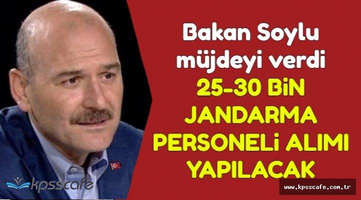 Bakan Soylu: 25-30 Bin Jandarma Personeli Alınacak (Uzman Erbaş-JÖH-Astsubay-Subay)