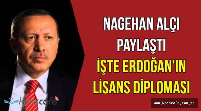 İşte Cumhurbaşkanı Erdoğan'ın Lisans Diploması
