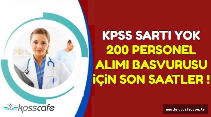 KPSS Şartı Yok: 200 Kamu Personeli Alımı Başvurusu İçin Son Saatler !