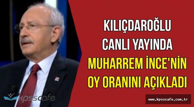 Kılıçdaroğlu Canlı Yayında Anket Sonuçlarını Açıkladı-İşte Muharrem İnce'nin Oyu