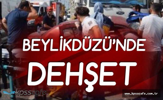 Beylikdüzü'nde Dehşet Anları! Polis Kemerle Saldıran Sürücüye Ateş Açtı