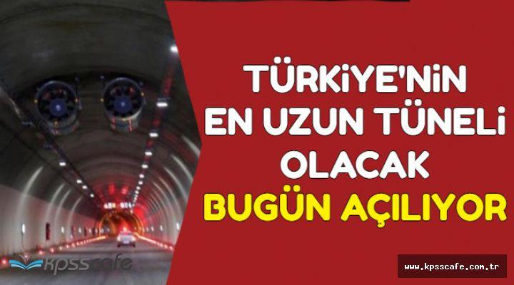Türkiye'nin En Uzun Tüneli Olacak-Bugün Açılacak