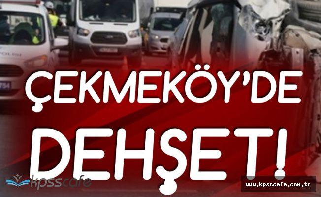 Çekmeköy'de Korkunç Kaza! 2 Yaralı