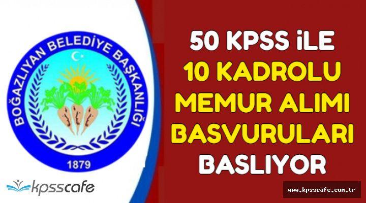50 KPSS ile Kadrolu Memur Alımı Başvurusu Başlıyor (Zabıta, Teknisyen, Mühendis, Veteriner)