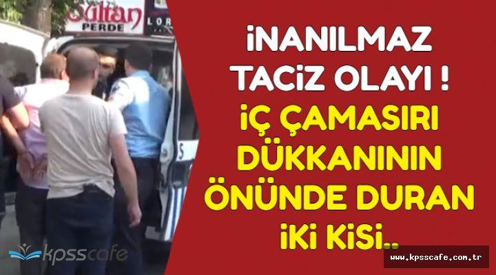 Karaman'da İnanılmaz Taciz Olayı-İç Çamaşırı Dükkanının Önünde Durup Güpegündüz...
