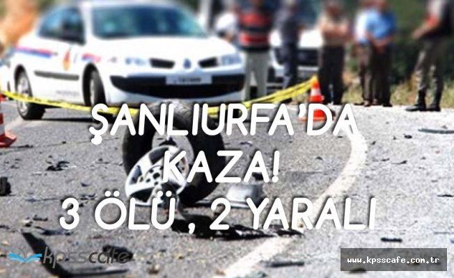 Şanlıurfa'da Otomobiller Çarpıştı! 3 Ölü, 2 Yaralı