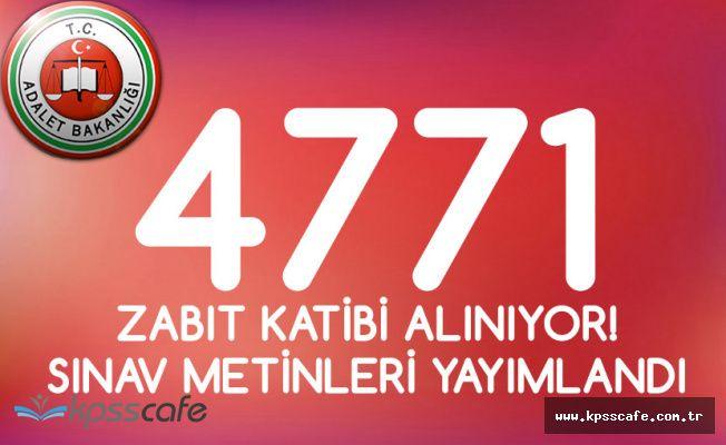 Adalet Bakanlığı 4 Bin 771 Zabıt Katibi Alıyor! Sınav Metinleri Yayımlandı!