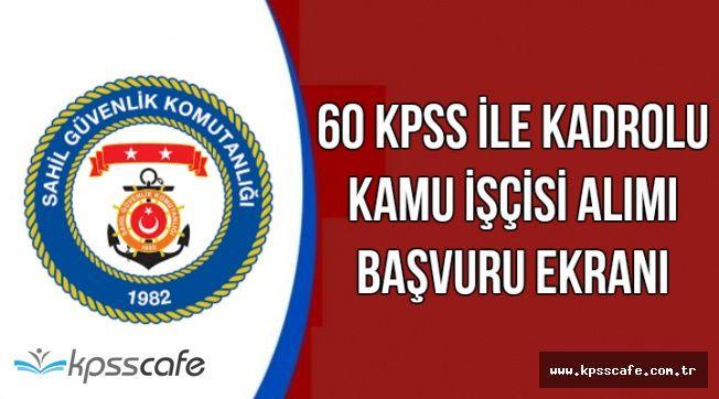 Alımlar Lise Mezunu ve Kadrolu: 60 KPSS ile Sahil Güvenlik Personel Alıyor