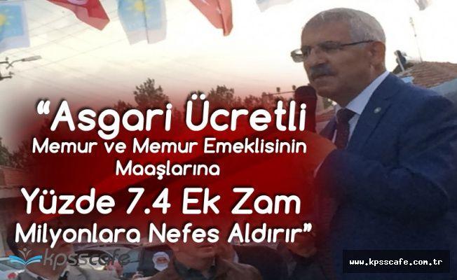 Fahrettin Yokuş: Memur, Memur Emeklisi ve Asgari Ücretlilere Yüzde 7.4 Zam Yapılmalıdır!