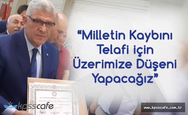 Müsavat Dervişoğlu Mazbatasını Aldı: Milletin Kaybını Telafi için Üzerimize Düşeni Yapacağız