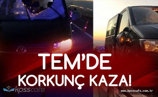 Tırdan Kopan Lastik Minibüse Çarptı! 1 Ölü , 4 Yaralı