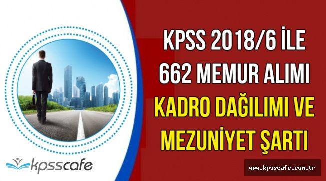 KGM 662 Memur Alımı Kadro Dağılımı ve Mezuniyet Şartı