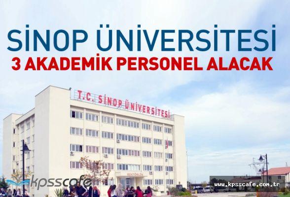 Sinop Üniversitesi 3 Akademik Personel Alacak
