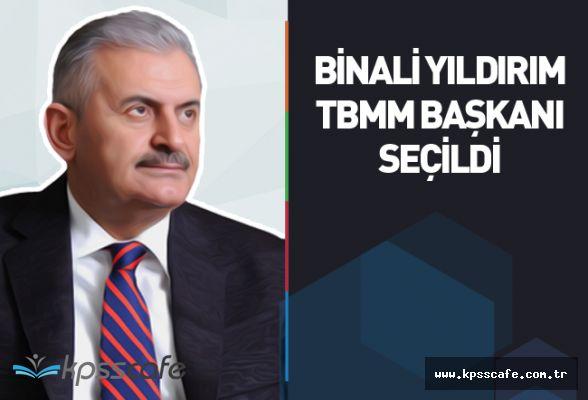 Binali Yıldırım, 3 turda TBMM Başkanı seçildi