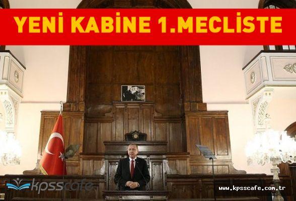 Yeni kabine 1. Meclis'te toplandı